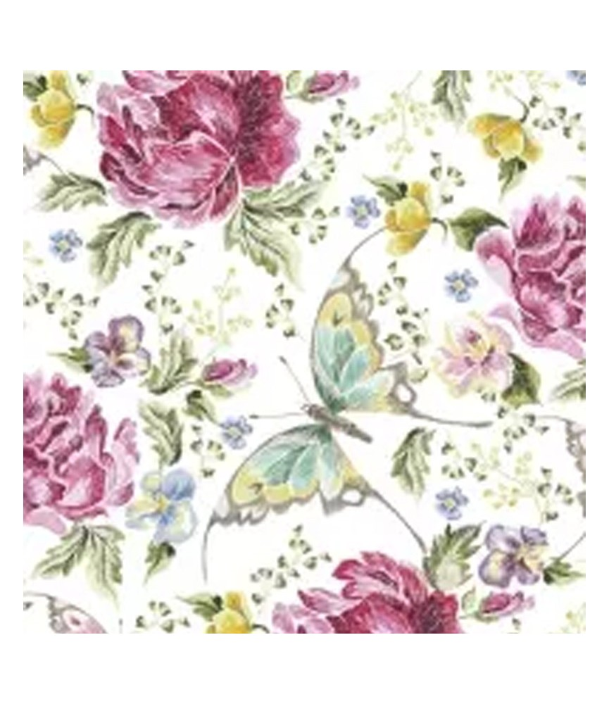Servilleta para decoupage Flores y mariposas