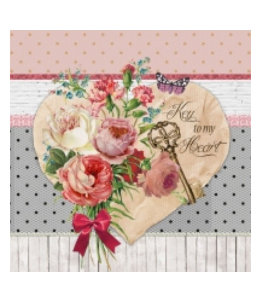 Servilleta para decoupage Lovely romance