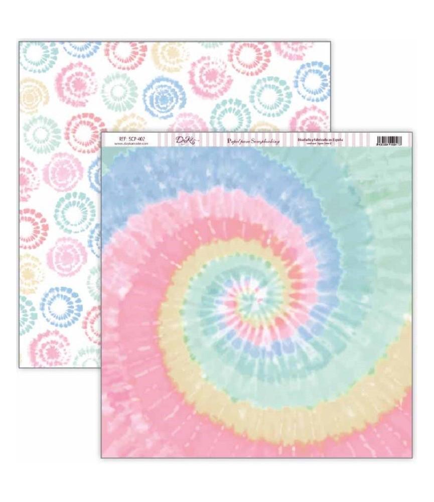 """Papel scrap Be happy """"Espiral de colores"""""""