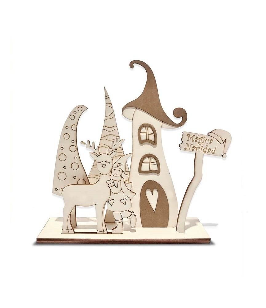 Set Navideño Niña con reno