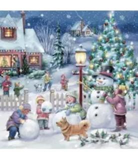 Comprar Servilleta para decoupage pueblo navideños nevado de Conideade