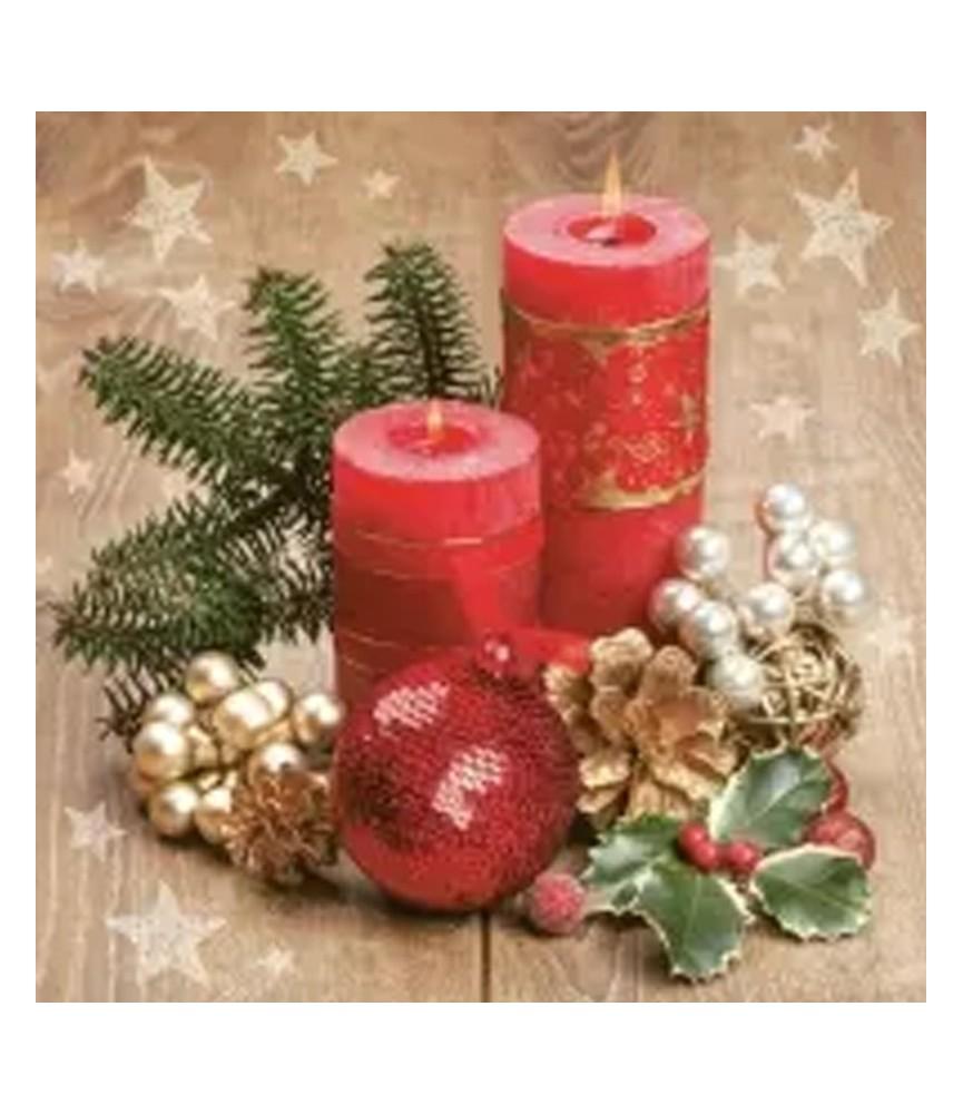 Servilleta para decoupage centro velas navidad