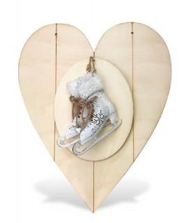 Comprar Colgante corazón con patines de Conideade