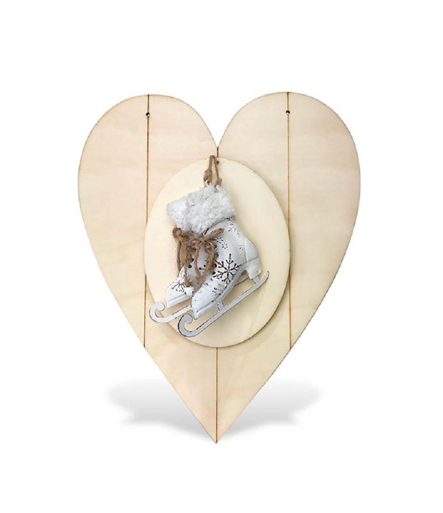 Colgante corazón con patines