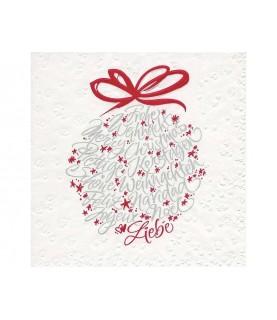 Comprar Servilleta Bola navideña con letras de Conideade