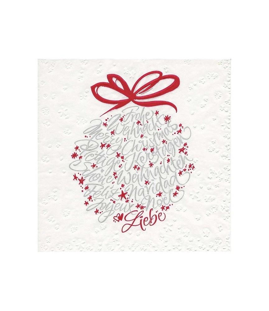 Servilleta Bola navideña con letras