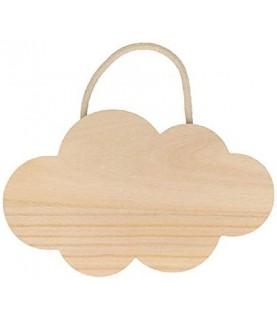 Nube de madera colgante