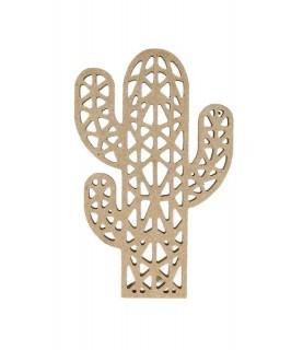 Imagén: Silueta de madera calada Cactus