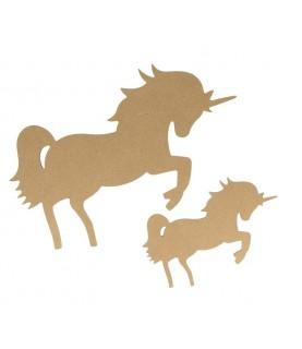 Comprar Silueta de MDF unicornio de Conideade