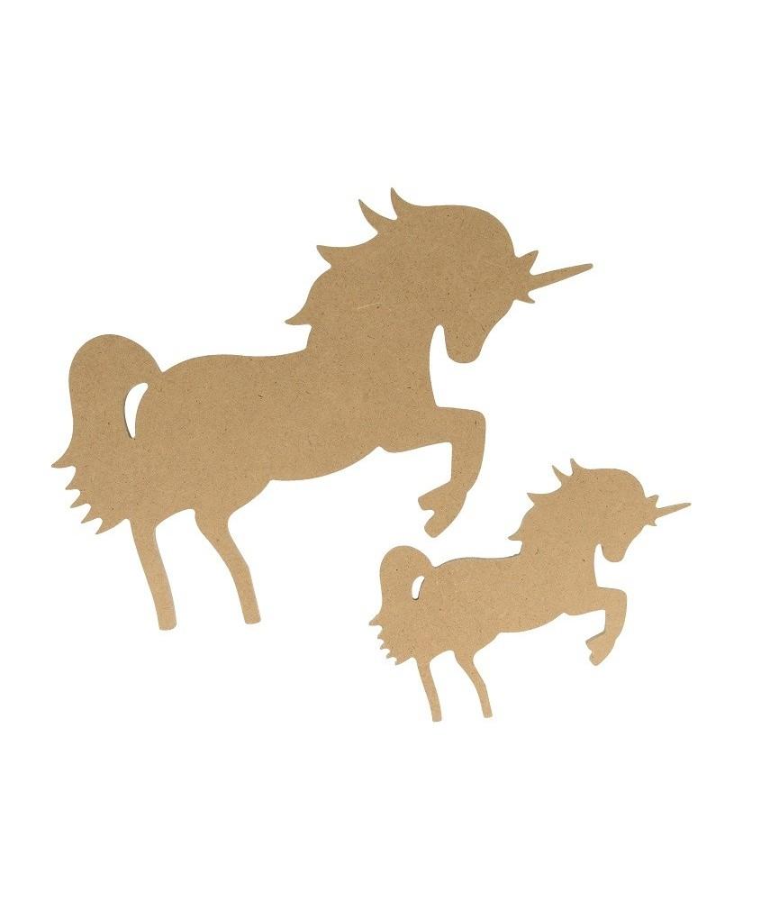Silueta de MDF unicornio