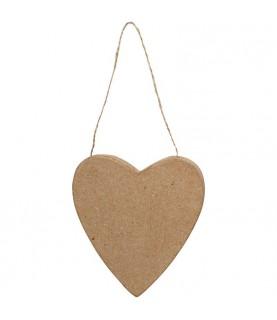 Comprar Corazón papel mache con cuerda de Conideade