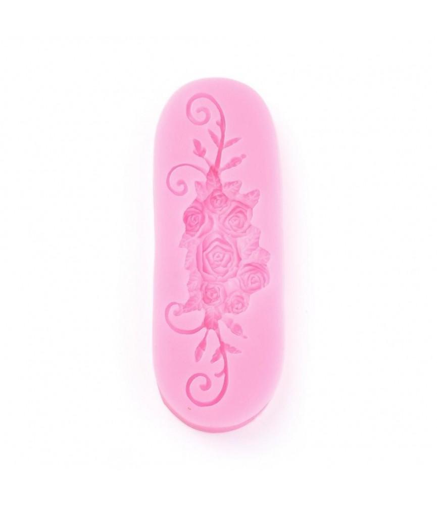 Molde de silicona conjunto rosas alargado