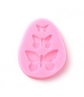 Molde de silicona 3 mariposas
