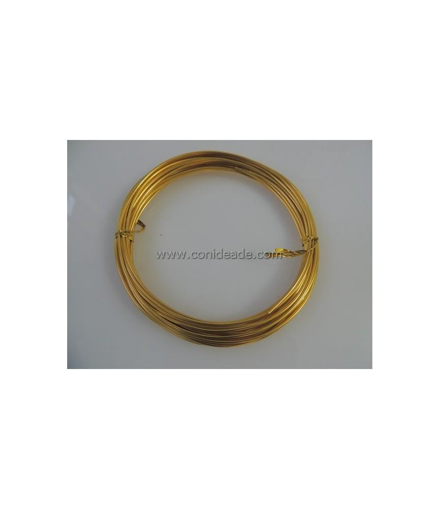 Rollo 6 metros alambre de aluminio 1.5mm amarillo