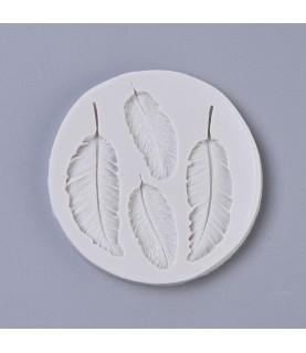Molde de silicona 4 plumas