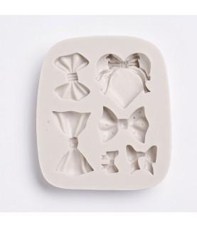 Molde de silicona 6 lazos