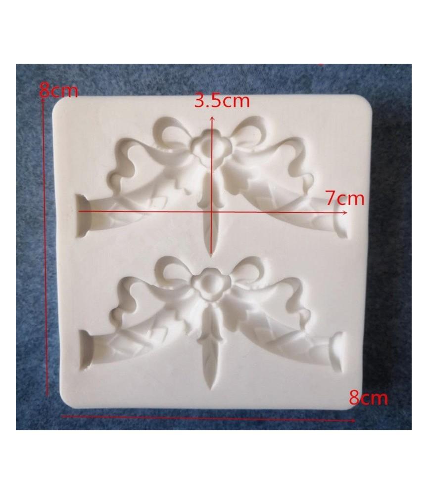Molde de silicona cordon con lazo