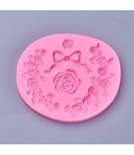 Molde de silicona flores y lazos
