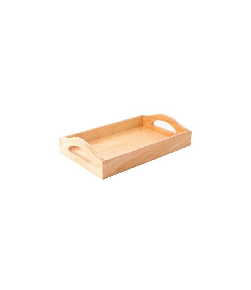 Bandeja de madera rectangular 30x17x5cm