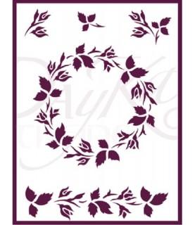Comprar Plantilla stencil DIN-A5 corona flores de Conideade