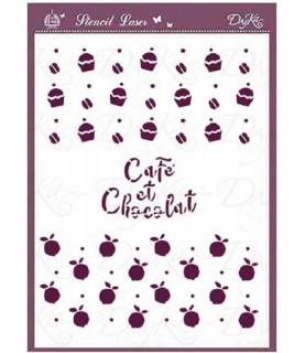 Comprar Plantilla stencil DIN-A5 café y chocolat de Conideade