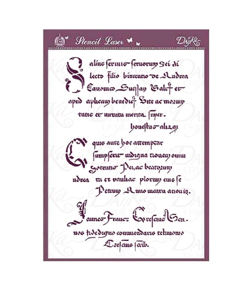 plantilla stencil acetato texto antiguo A4