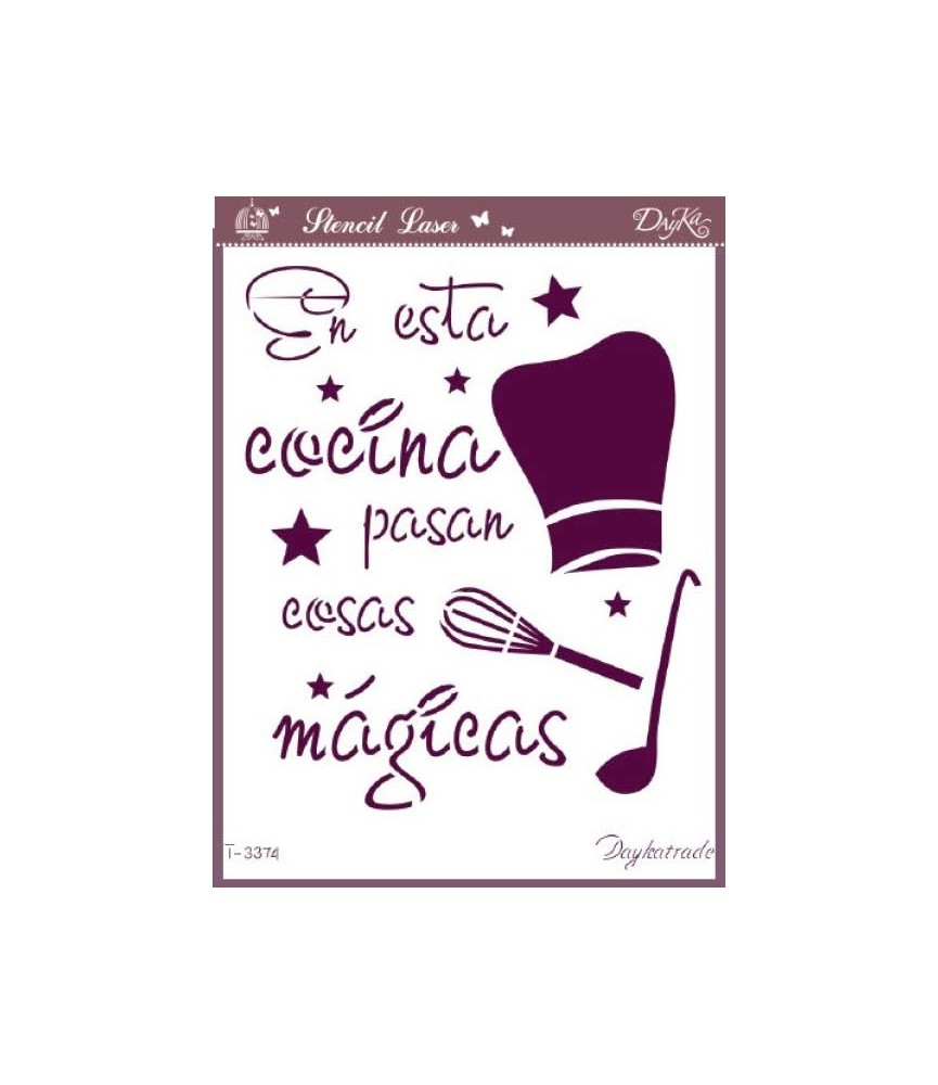 plantilla stencil Cocina mágica A4