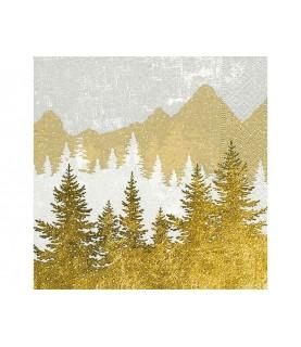 Comprar Servilleta bosque dorado y plata de Conideade
