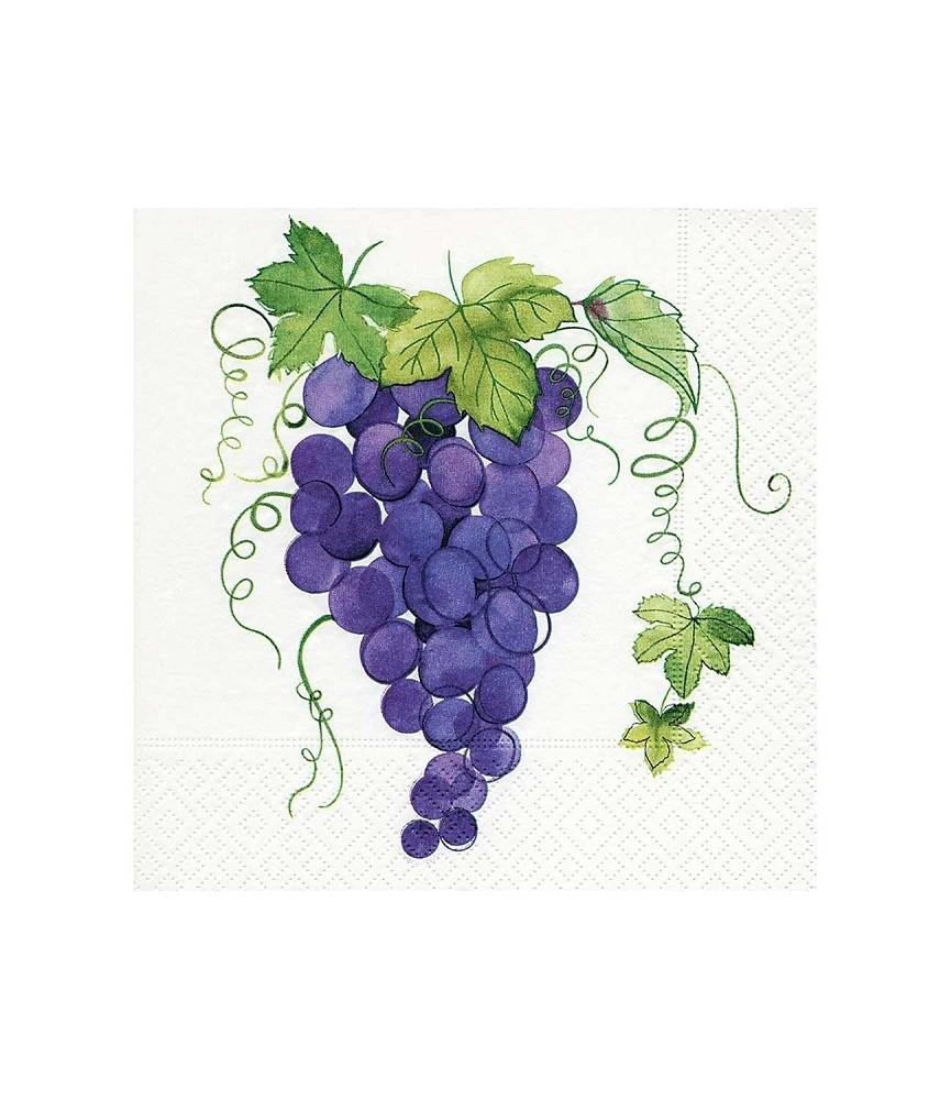 Servilleta racimo de uvas tintas