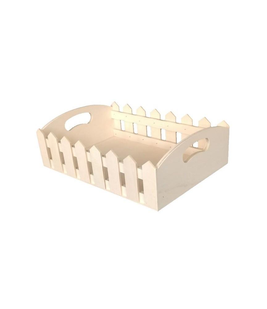 Bandeja de madera tipo valla