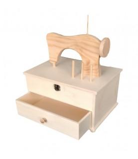 Comprar Caja costurero con silueta maquina de Conideade
