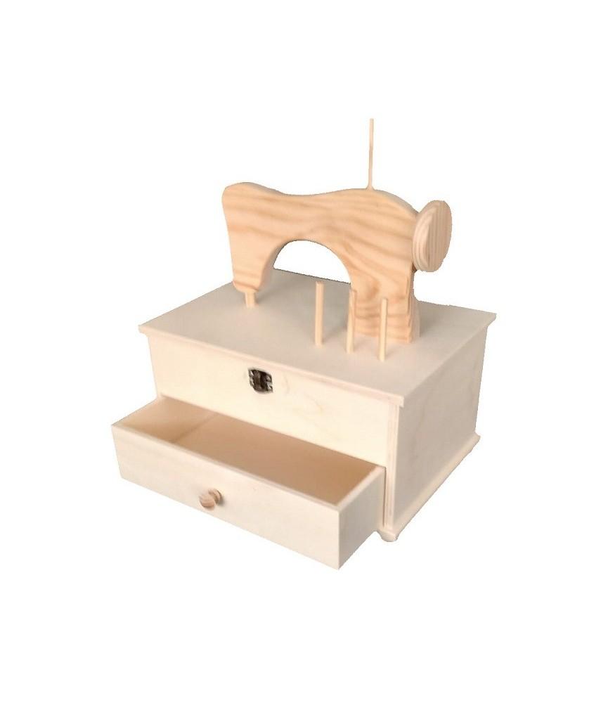 Caja costurero con silueta maquina
