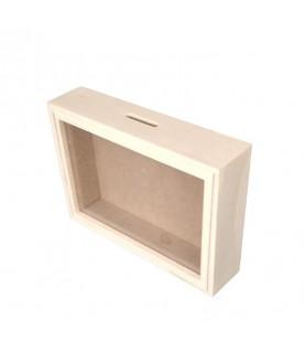 Comprar Hucha de madera con cristal 17x12cm de Conideade