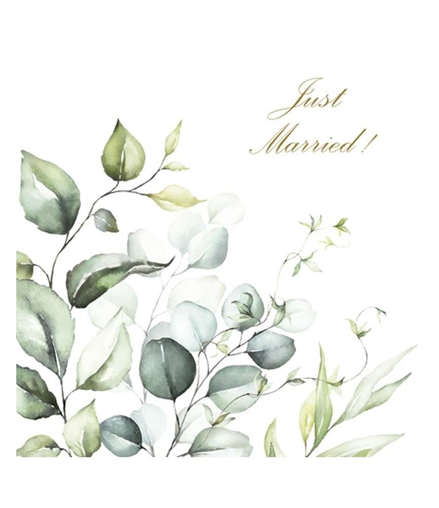 Servilleta decorativa Just Married