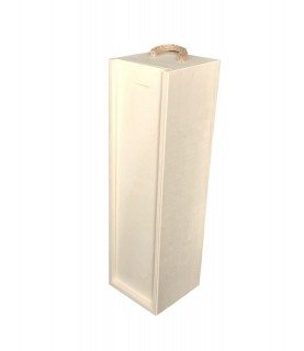 Caja de vino rectangular con tapa deslizante