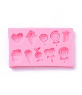 Molde de silicona 10 dulces