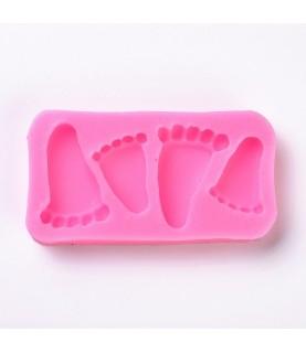 Molde de Silicon huellas de pies