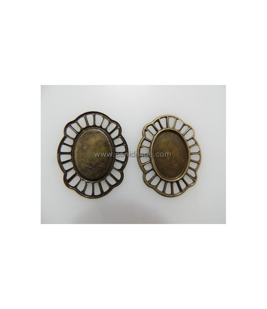 Base Camafeo extrafino bronce 25x18 mm