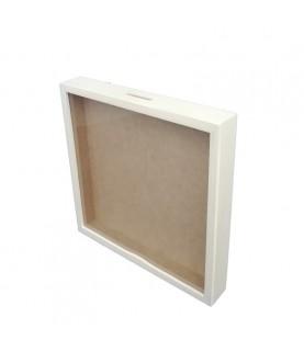 Comprar Hucha de madera con cristal 25x25cm