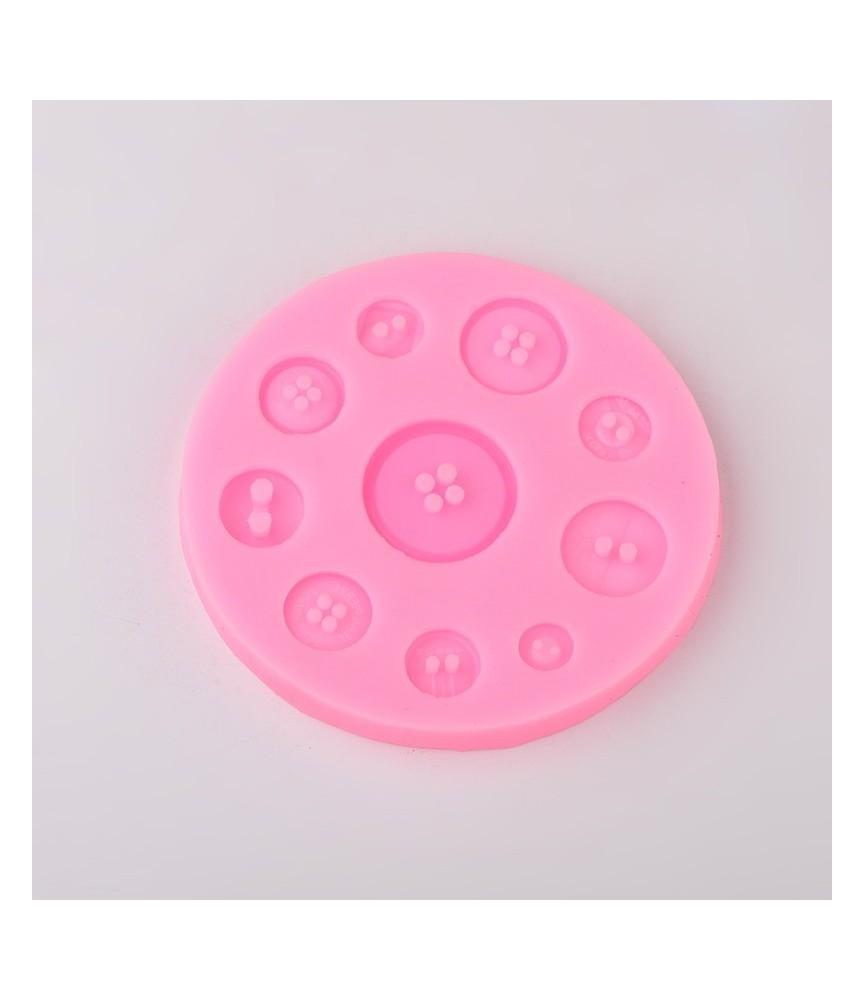 Molde de silicona 10 botones