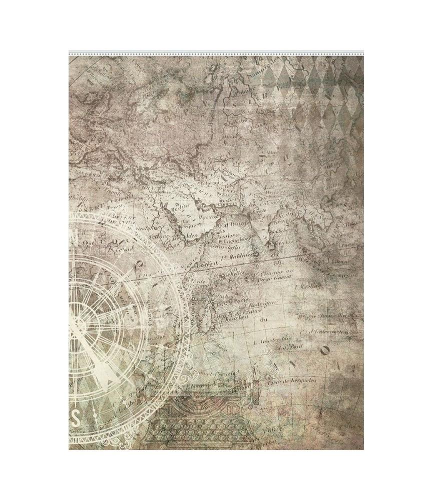 Papel de arroz modelo Mapa 29,7 x 42 cm