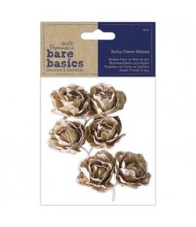 Comprar Pack 6 flores de tela de yute adhesivas de Conideade