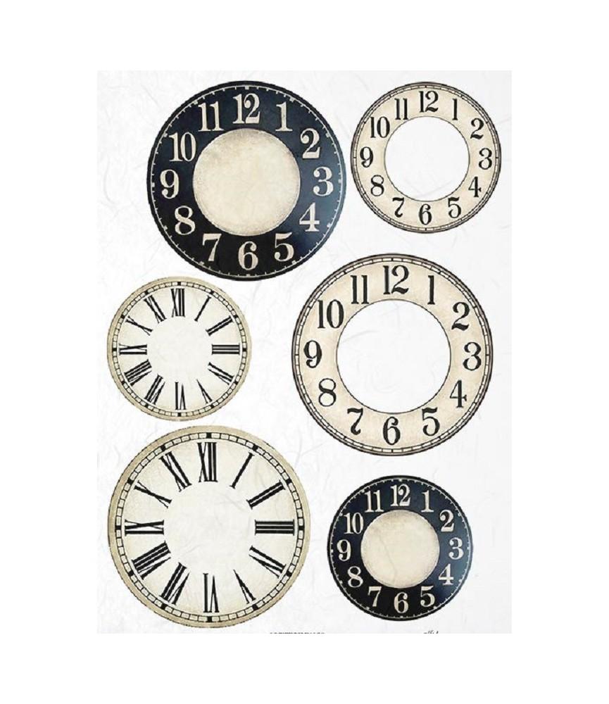 Papel de Arroz en A4 de relojs