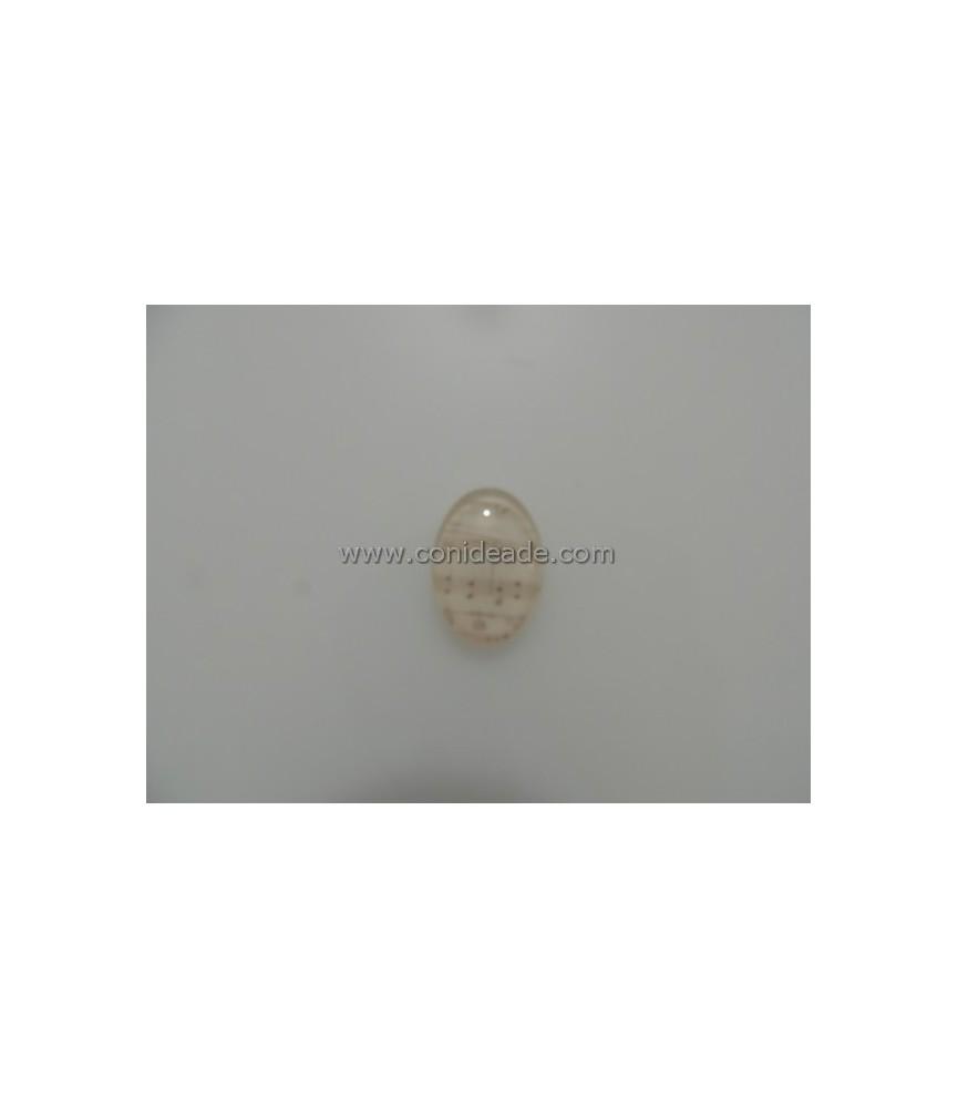 Cabuchon cristal partitura 18x25mm