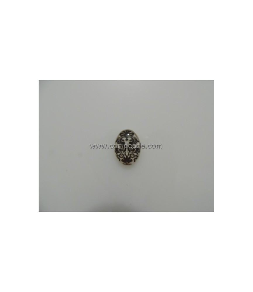 Cabuchon cristal barroco 18x25mm