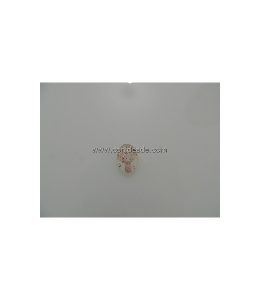 Cabuchon cristal arbol 18x13mm
