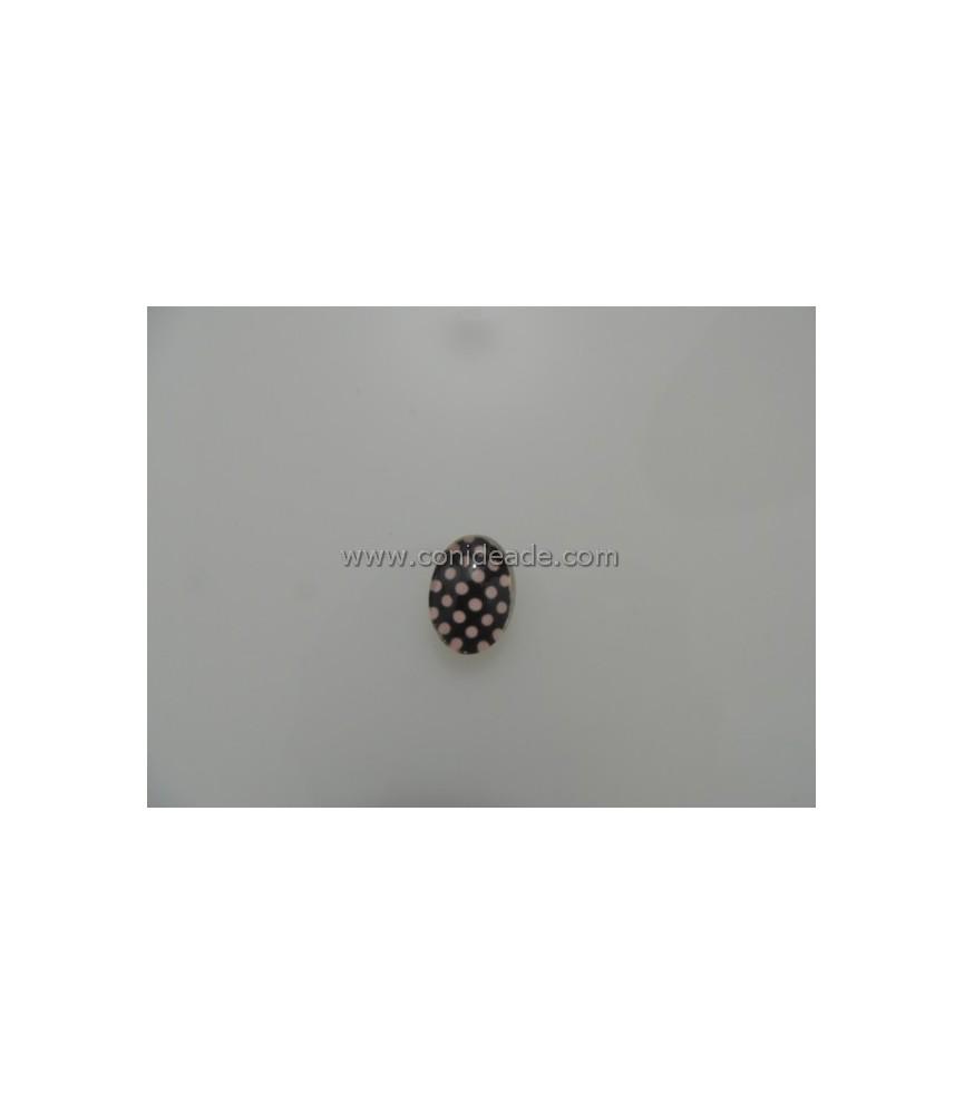 Cabuchon cristal de topitos 18x13mm