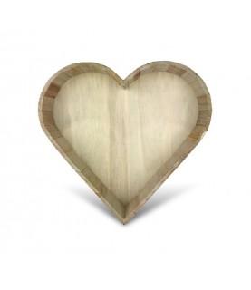 Comprar Bandeja de madera con forma de corazón de Conideade