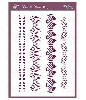 plantilla stencil DIN-A4 cenefas etnicas