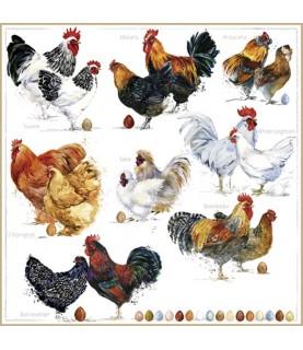 Comprar Servilleta decorativa gallinas ponedoras de Conideade